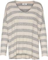 Only Maye Striped V-Neck Long Sleeve Sweater