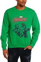 Marvel Men's Avengers Assemble Team Burst Long Sleeve Sweatshirt