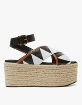Marni Wedge in Lily White/Black