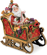 Fitz & Floyd Regal Holiday Santa in Sleigh Musical Figurine