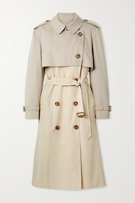 Burberry Deighton Layered Two-tone Cotton-gabardine Trench Coat - Beige