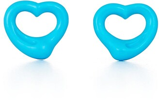 Tiffany & Co. Elsa Peretti Open Heart earrings of turquoise and 18k gold