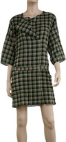 Max Studio Yarn Dyed Cotton Plaid Dress