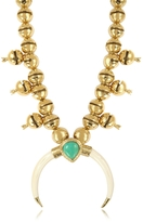 Aurelie Bidermann Navaho Gold Plated, Horn and Turquoise Pendant Necklace