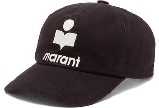 Isabel Marant Tyron Logo-embroidered Cotton Cap - Womens - Black