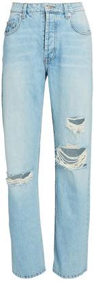 SABLYN Sammy Distressed Straight-Leg Jeans