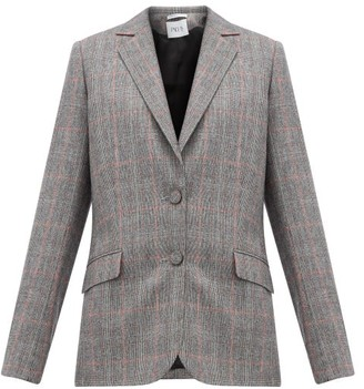 Pallas X Claire Thomson Jonville X Claire Thomson-jonville - Fidji Tailored Single-breasted Wool Jacket - Womens - Grey Multi