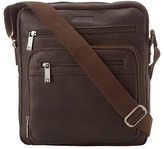 "Kenneth Cole Reaction Columbian Leather - 2.25"" Single Gusset Top Zip Day Bag"