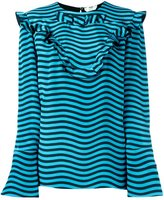 Fendi ruffled striped blouse