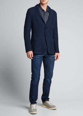 Boglioli Men's Sweater-Textured Three-Button Jacket