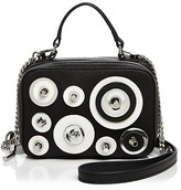 Milly Disc Mini Saffiano Leather Satchel
