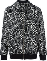 Les Benjamins zabra print hooded sweatshirt - men - Cotton/Polyester/Spandex/Elastane - XL