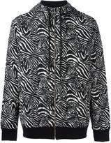 Les Benjamins zabra print hooded sweatshirt