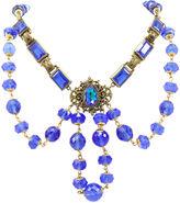 One Kings Lane Vintage Czech Blue Festoon-Style Necklace