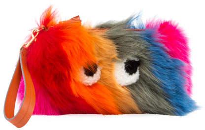 Anya Hindmarch Creeper Fur Clutch Bag
