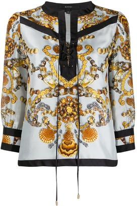 Gucci Pre-Owned Seashells Print Blouse