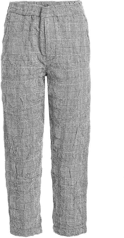 R 13 PJ Pant Textured Trousers in Wool and Cotton