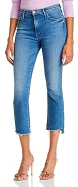 Mother The Insider Crop Step Fray Flared Jeans in Hey Sun