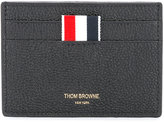 Thom Browne logo cardholder - unisex - Leather - One Size