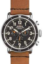 Shinola 48mm Runwell Sport Chronograph Watch, Tan