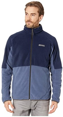 Columbia Basin Trailtm Fleece Full Zip Jacket (Dark Mountain/Collegiate Navy/Buffalo) Men's Fleece