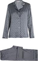 Derek Rose Esme 10-print silk-satin pyjamas