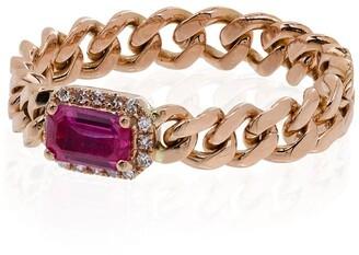 Shay 18kt Rose Gold Ruby Diamond Ring