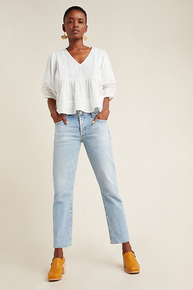 Citizens of Humanity Emerson Mid-Rise Slim Boyfriend Jeans By in Blue Size 25