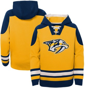 Outerstuff Youth Gold Nashville Predators Ageless Must-Have Lace-Up Pullover Hoodie
