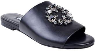 Charles David Soleil Jeweled Leather Slide Sandals