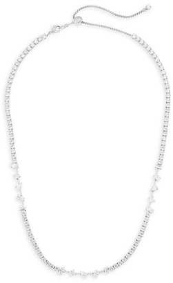 Adriana Orsini Tivoli Rhodium-Plated Silver & Cubic Zirconia Adjustable Necklace