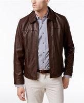 Cole Haan Men's Full-Zip Leather Bomber Jacket
