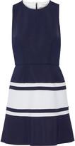 Tanya Taylor Lora two-tone scuba mini dress