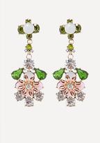 Bebe Flower Drop Earrings