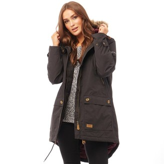 Trespass Womens Clea Insulated Waterproof Parka Black