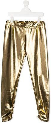 Pinko Kids TEEN metallic leggings