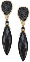 INC International Concepts Gold-Tone Jet Navette Stone Drop Earrings, Only at Macy's