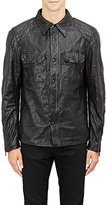 Ralph Lauren Black Label MEN'S WRINKLED LEATHER JACKET-BLACK SIZE S