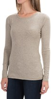 Cynthia Rowley Ribbed Scoop Neck Shirt - Pima Cotton-Modal, Long Sleeve (For Women)