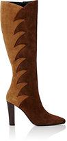 Saint Laurent Women's Lily Suede Knee Boots-BROWN
