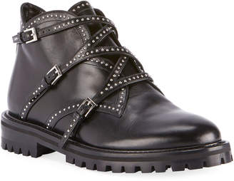 Alaia Studded Wrap Ankle Booties