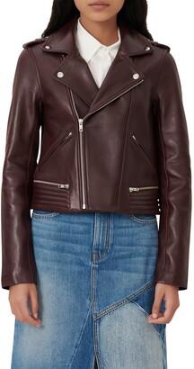 Maje Leather Moto Jacket