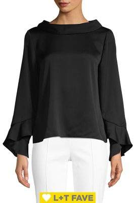 Vince Camuto Long Sleeve Flutter Cuff Blouse