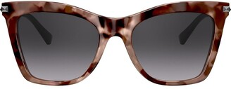 Valentino Eyewear Studded Arms Cat-Eye Sunglasses