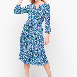 Talbots Floral Tie Waist Dress