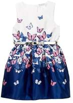Nicole Miller Butterfly Belted Dress (Little Girls)