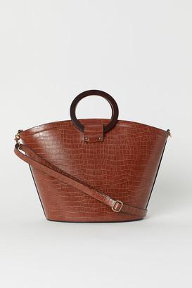 H&M Crocodile-patterned Shopper - Beige