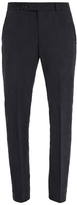 Boglioli Mid-rise straight-leg cotton trousers