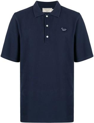 MAISON KITSUNÉ Fox Patch Polo Shirt