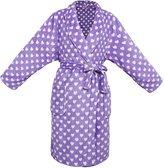 Simplicity Big Girls' Heart Velvet Fleece Shawl Robe Bathrobe w/ Pockets,Heart,XL